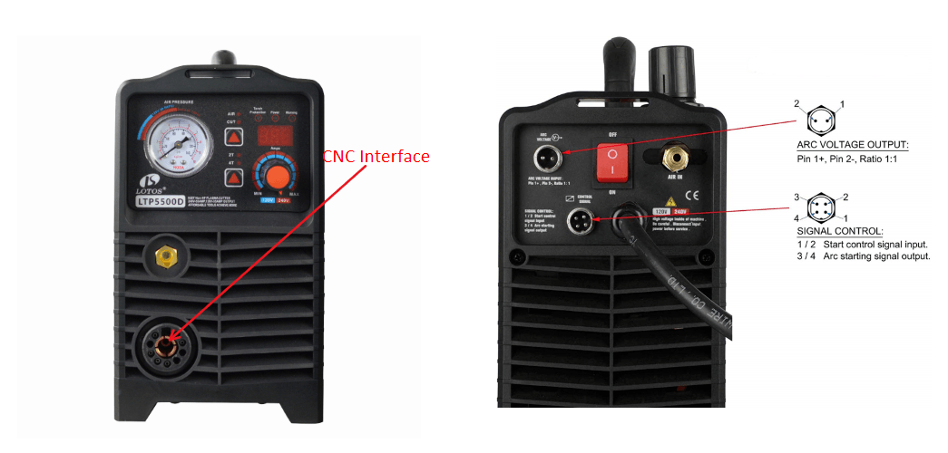 cnc plasma cutter interface